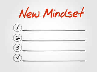 Blank New Mindset list, vector concept background