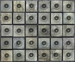 grunge gray party speaker woofer wall