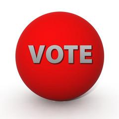 Vote circular icon on white background