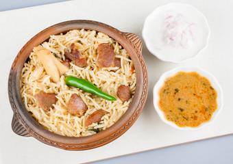 Mutton Biryani with Salad