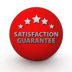 Satisfaction guaranteecircular icon on white background