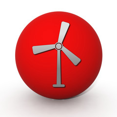 Turbine circular icon on white background