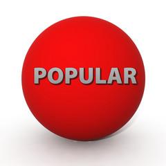 Popular circular icon on white background
