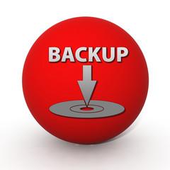 Backup circular icon on white background
