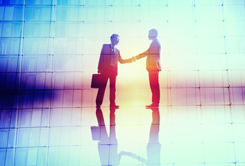 Handshaking Business Agreement Success Collaboration Concept