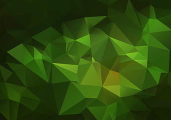 Green abstract triangles background