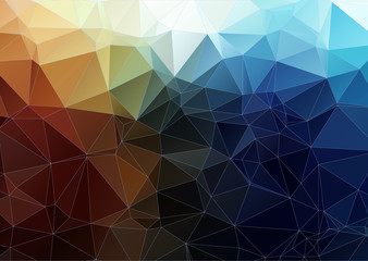 tial orange  abstract polygonal background