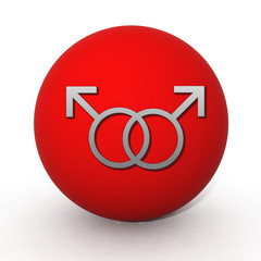 Guy circular icon on white background