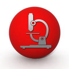Microscope circular icon on white background