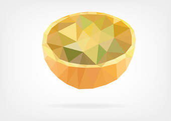 Low Poly Lulo or Naranjilla fruit