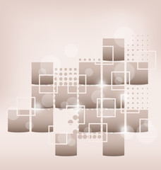 Abstract creative background with squares