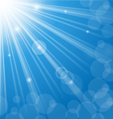 Abstract blue background with  lens flare