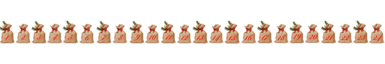 Adventskalender aus Weihnachtssäckchen