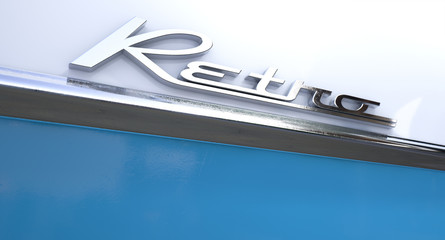 Retro Chrome Car Emblem
