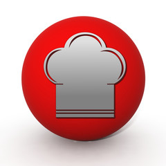 Chef circular icon on white background