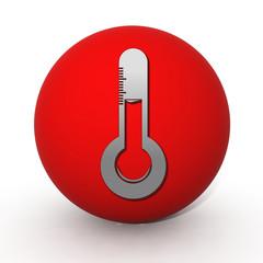 Temperature circular icon on white background