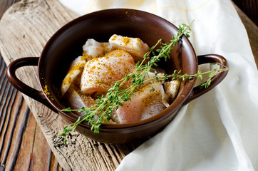 Baked tilapia with spices and thyme