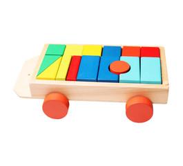 blocks on a trolley