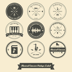 Musical Course Vintage Label