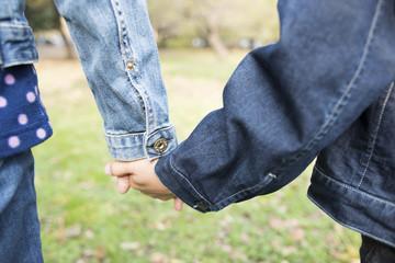 Holding Hands children