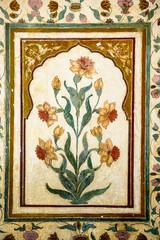 decoration of precious stones, Taj Mahal walls