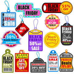 Black Friday Shopping Labels & Tags