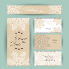 Wedding invitation, thank you card, save the date