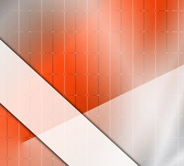 Square abstract orange background with place for text