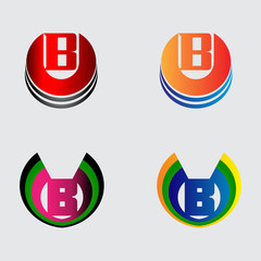 Collection of Letter B logo symbols
