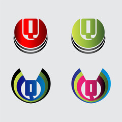 Collection of Letter Q logo symbols
