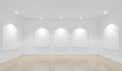 museum exhibition hall ,3d concept