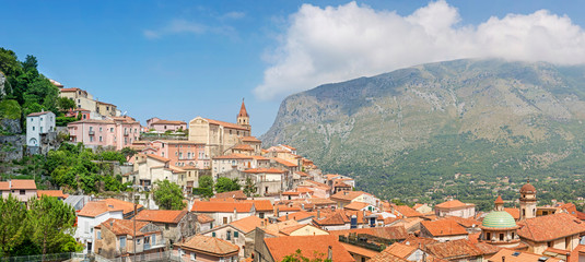 Panorama view of Maratea, Basilicata, Italy