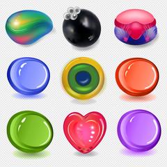 Multicolored soap remnants set
