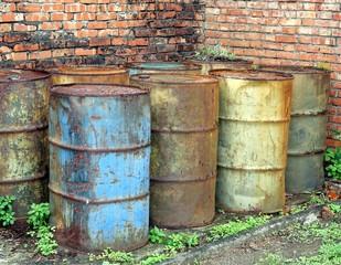 Rusting Oil Barrels
