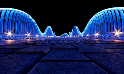Dubai Meydan bridge, Modern artistic bridge in Dubai