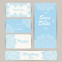 Wedding invitation, thank you card, save the date cards