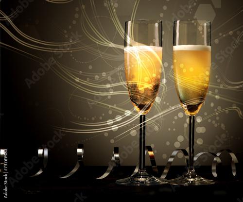Nowy Rok, wesele lub rocznicę szampana
