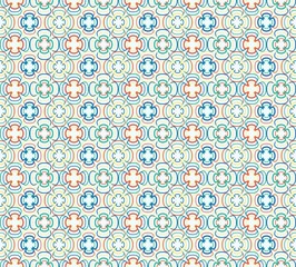 vector seamless cross color pattern
