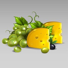 Cheese s grapes