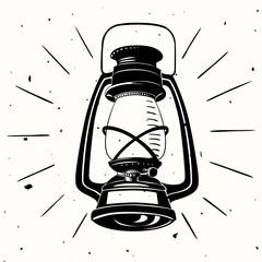 Vintage handdrawn vector lamp