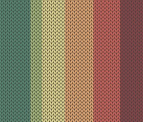 vector seamless knitted colorfull pattern