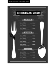 Restaurant Food Menu Template Design Black and white
