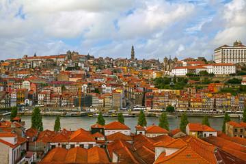Porto old town and river Douro. Portugal