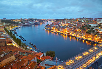 Porto after sunset, Portugal