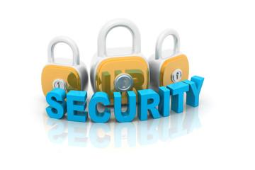 Security Padlock isolated on white background .