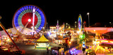 Carnival rides at the the Royal Exihnition Show in Brisbane.