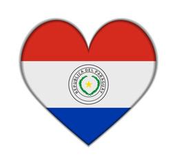 Paraguay heart flag vector