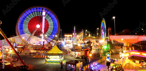Carnival rides at the the Royal Exihnition Show in Brisbane. - 73772188