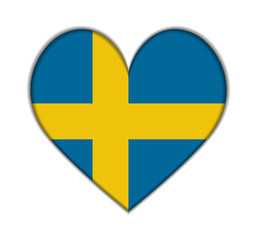 Sweden heart flag vector