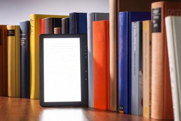 E-Book und viele gedruckte Bücher